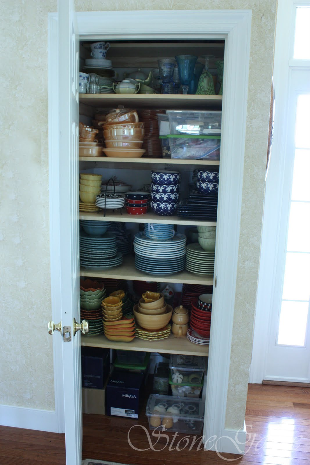 And Made A New Dish Closet For Me The Wonderful Thing About This Is That It Right Off My Dining Room Close To Kitchen Easy Access