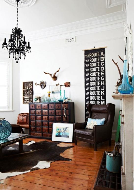 combinar color marron y turquesa en decoracion