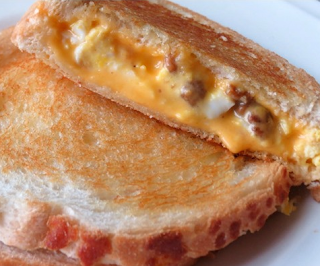 Sausage and Egg Grilled Cheese Sandwich Recipe