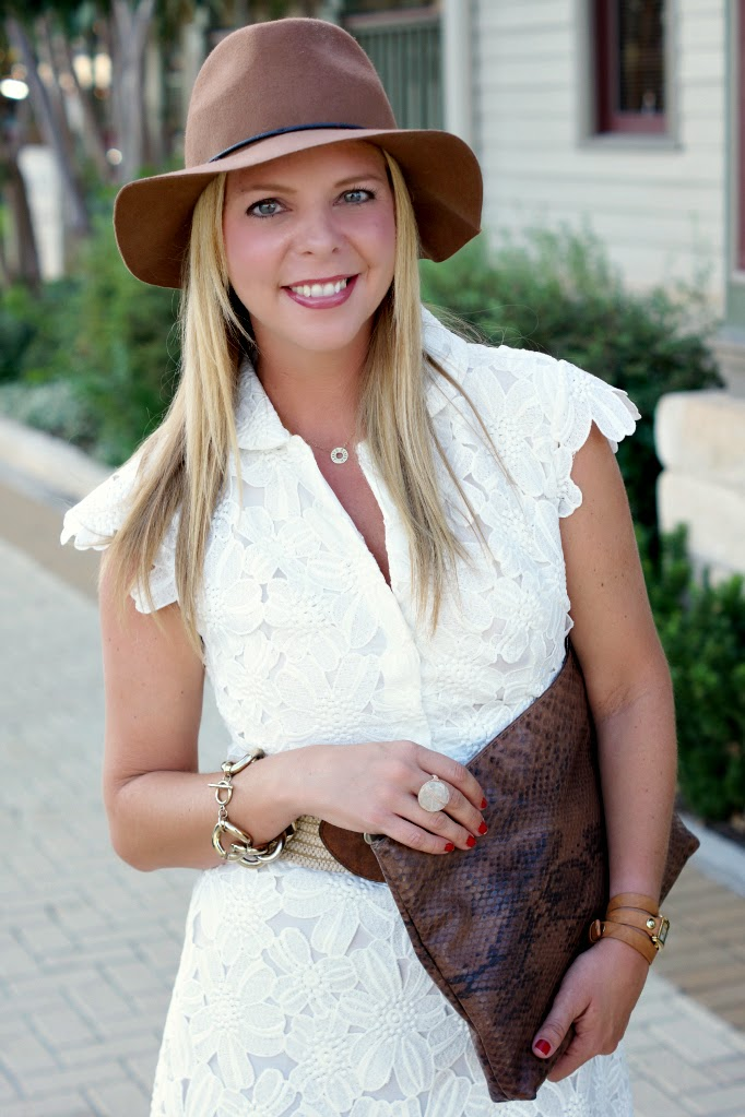 Brown felt floppy hat