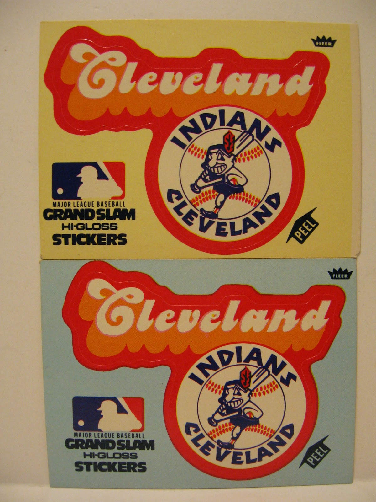 Baseball dads dugout team logos before wahoo disappears these are die cut so the center section fandeluxe Images