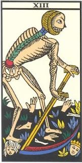 Arcano 13: A Morte, carta do tarô, tarot, baralho de marselha