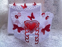 Heart Rose Door Card