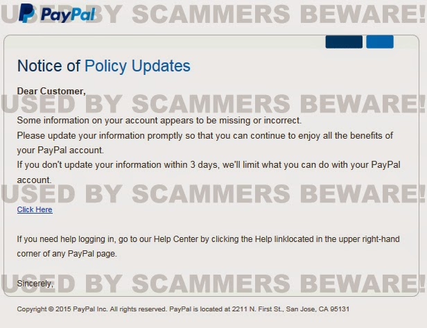 Dating sites email scams
