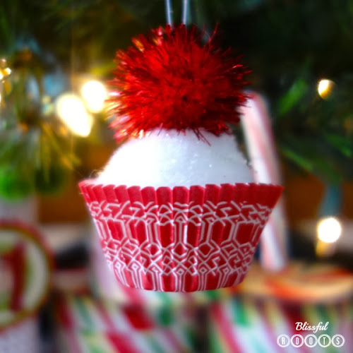 DIY Cupcake Ornaments from Blissful Roots