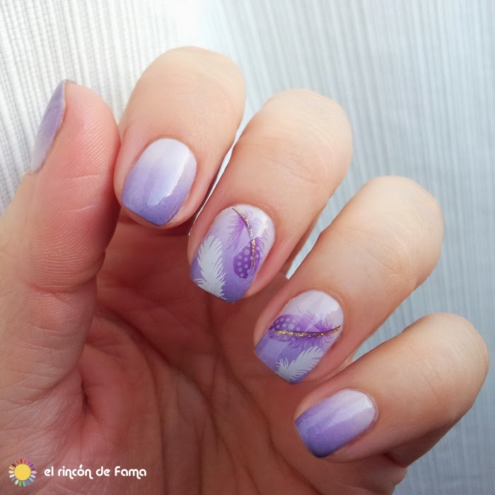 DEGRADADO LILA CON WATER DECALS