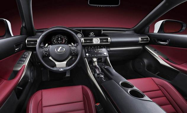 Interior view of 2016 Lexus IS350 F-SPORT