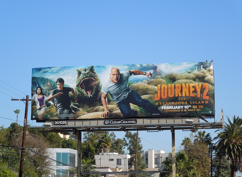 Journey 2 Mysterious Island lizard billboard