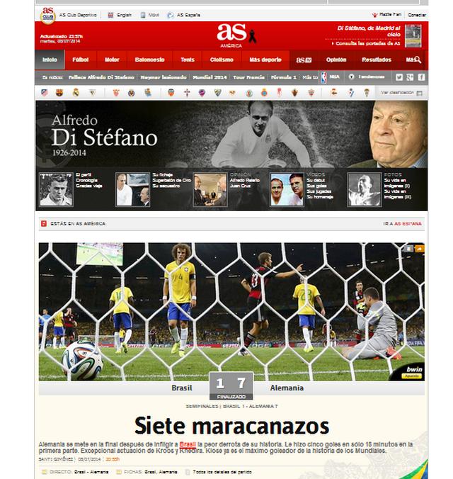 El diario As tituló: siete maracanazos