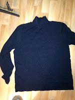 Gjenbruk med svart genser