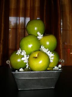 Centros de Mesa, Originales, Naturales, Manzanas