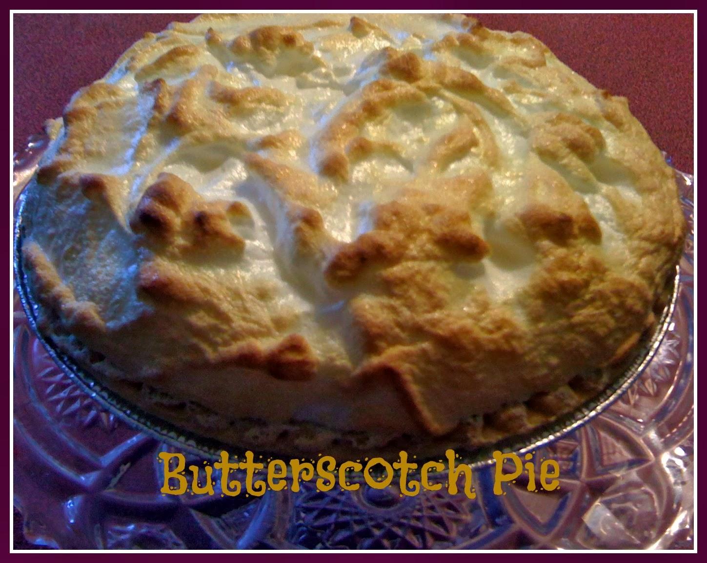 Butterscotch Pie!