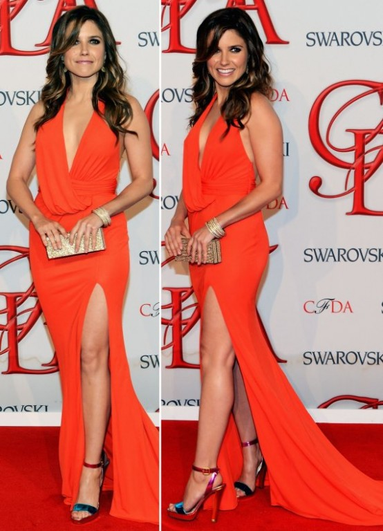 Slike Sophie-Brooke - Page 9 Sophia-Bush-2012-Orange-Gown-at-CFDA-Fashion-Awards-554x768