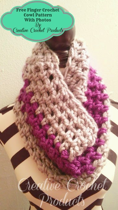 Crocheting With Fingers : Creative Crochet products*: Finger crochet cowl pattern with photos