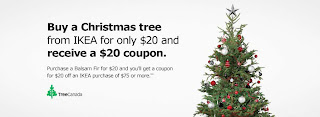 Free Real Christmas Tree from IKEA