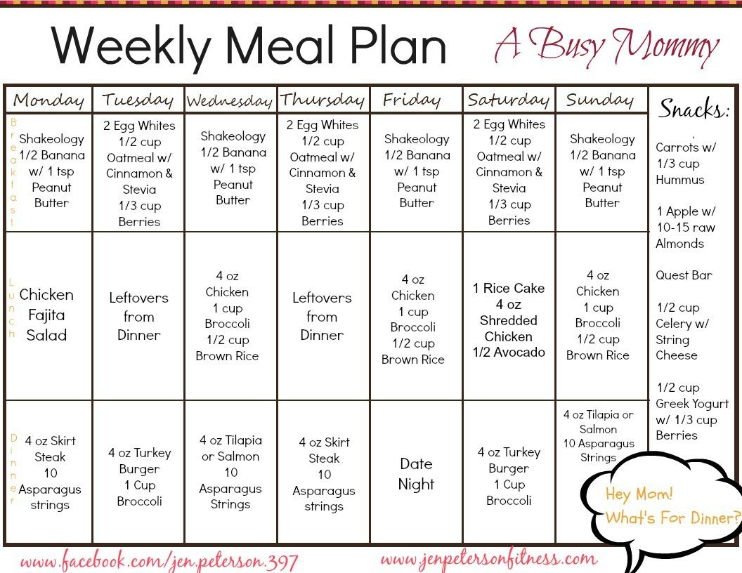 family diet planner