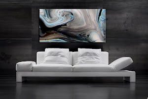 "Abstract Painting ""Blue Swirl"" by Dora Woodrum"