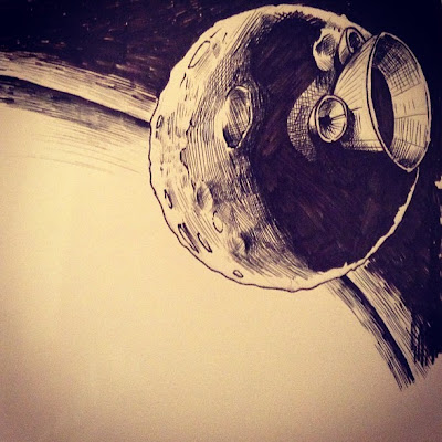 Dark Side Of The Moon Drawing