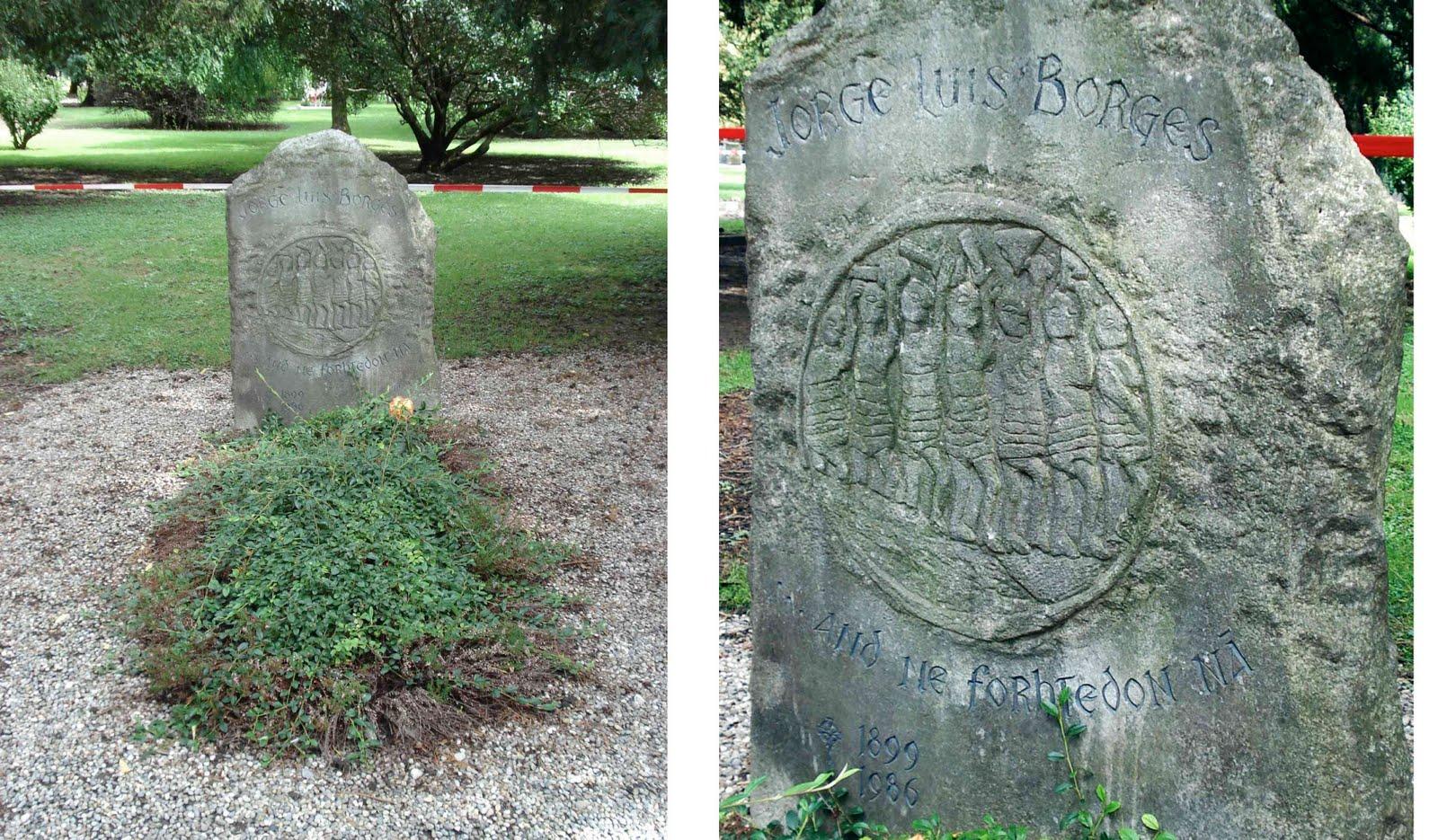 Aquí descansa Jorge Luis Borges, Cementerio Plain Palais, Ginebra - (Hay más foto a tu derecha)  -