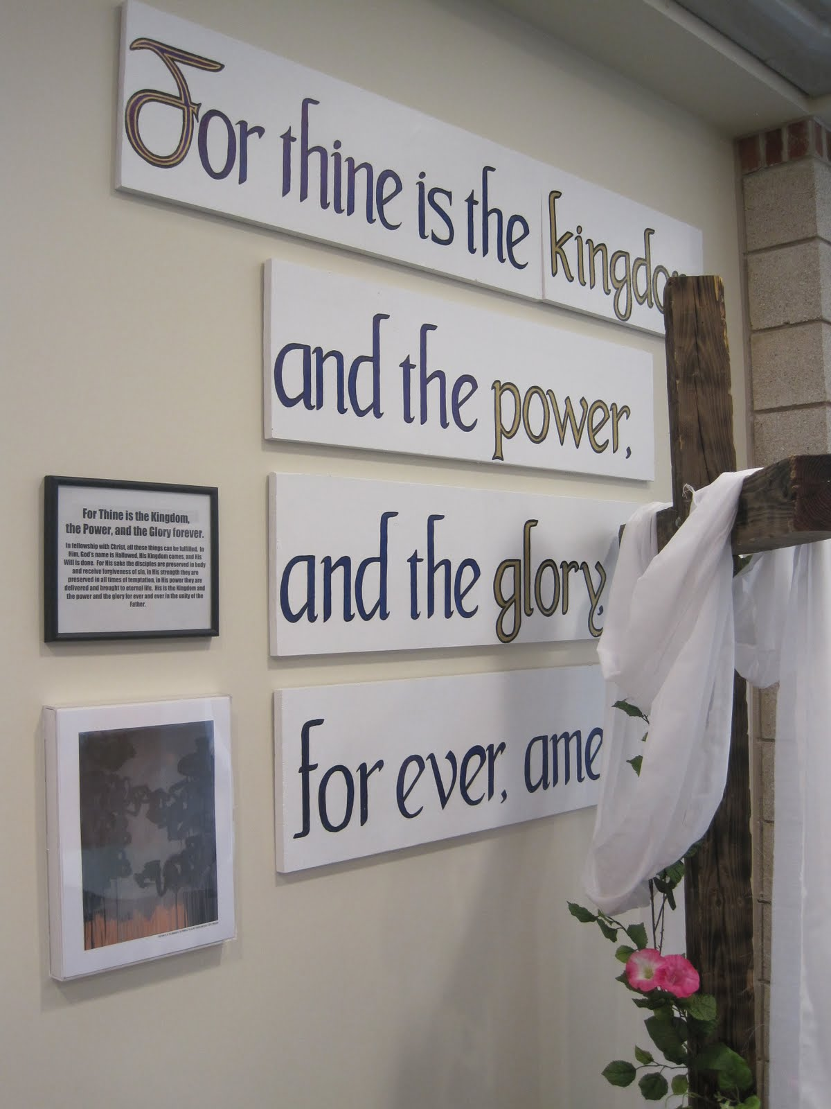 church stage decorating ideas: lord's prayer - stations