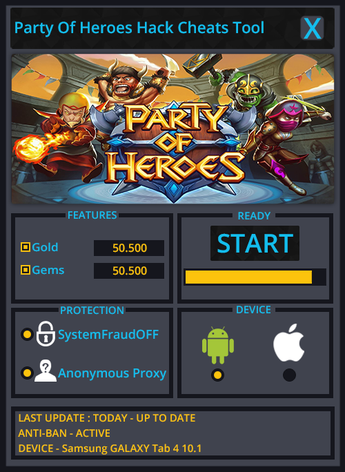 Party Of Heroes Hack