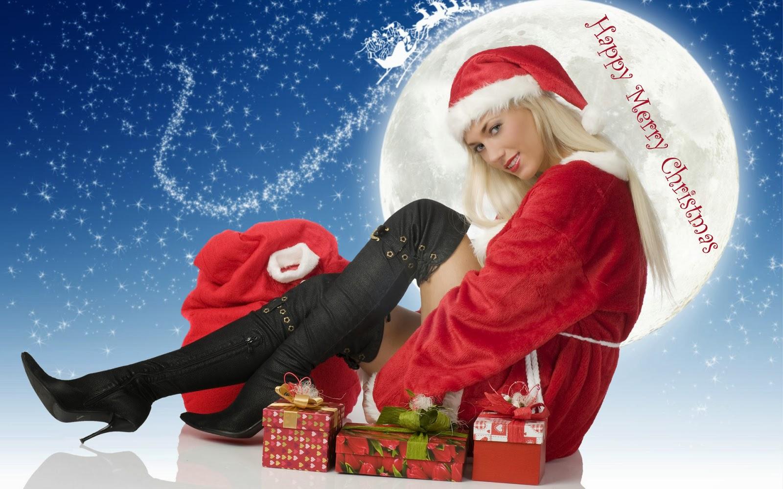 Christmas Santa Claus Girls Wallpapers