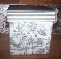 Sweet Toile Paper Mache Box
