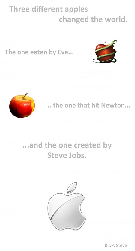 Three Different Apples Changed The World - The One Eaten By Eve, The One That Hit Newton, and the one created by Steve Jobs