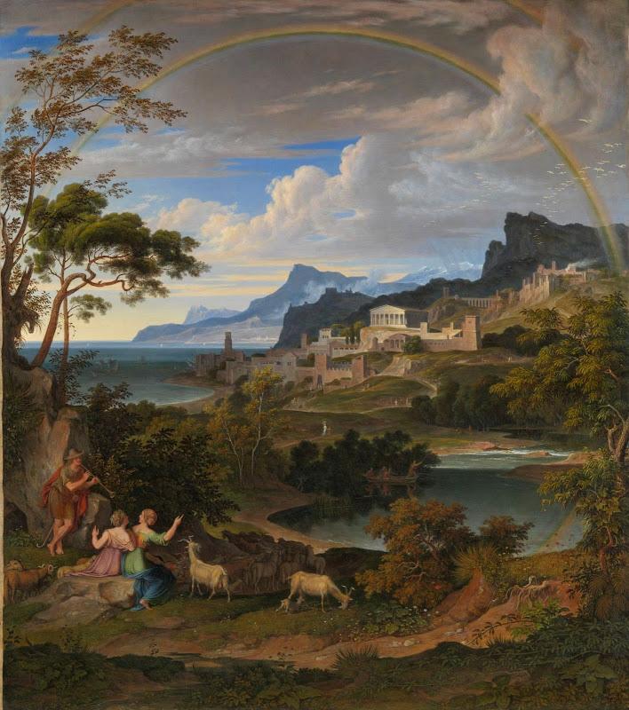 Joseph Anton Koch - Heroic landscape with rainbow 1824
