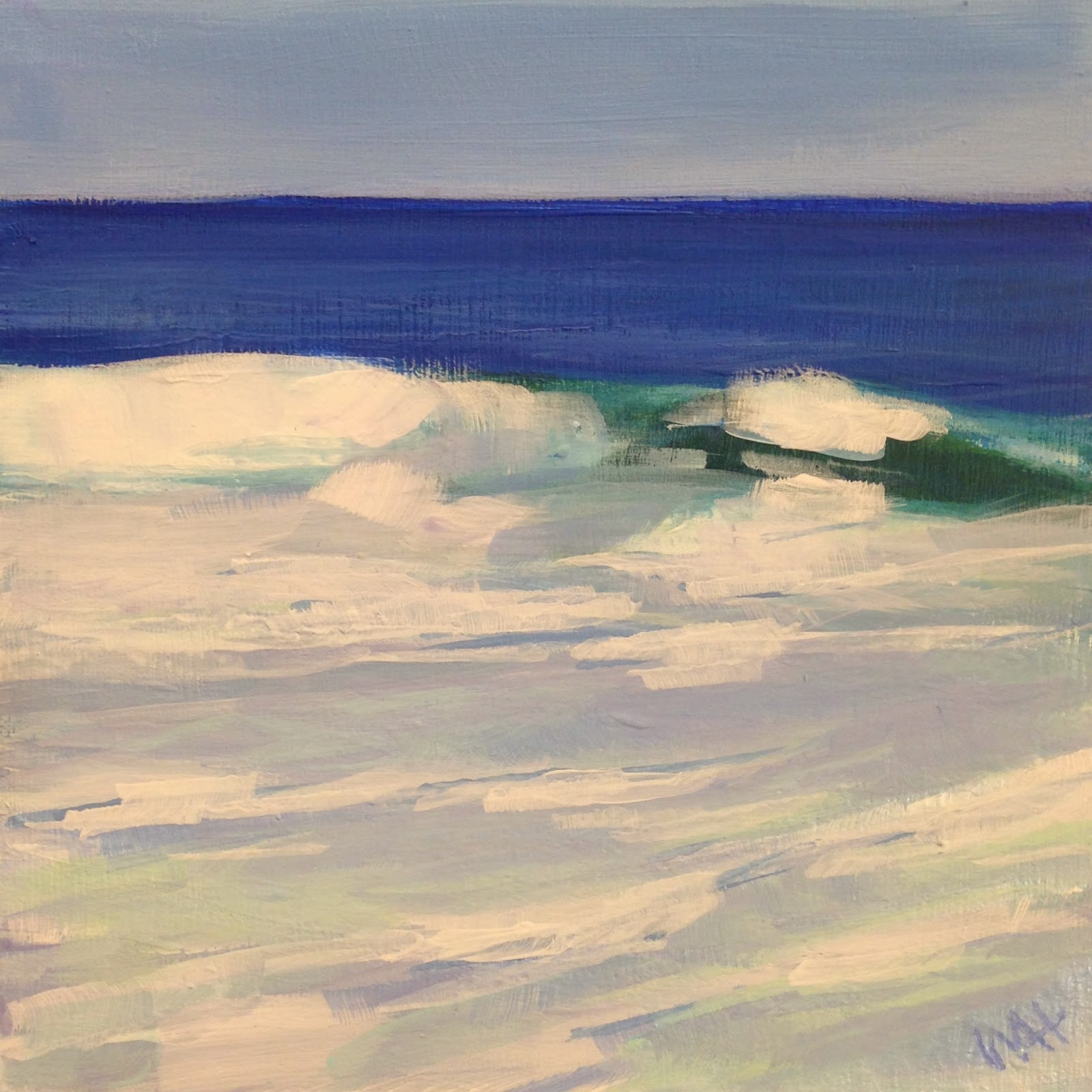 Ocean painting by Cape Cod artist