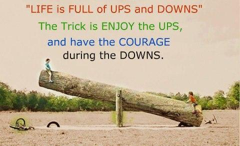 Life Is Full Of Ups And Downs Inspirational Picture Quotes