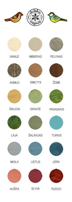 pagrindinė spalvų paletė