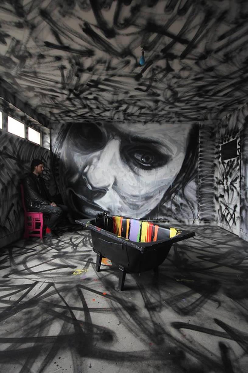 Koolupfun amazing wall graffiti paintings for Amazing art paintings