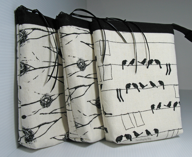 Linen Zippered Pouches - you can never have too many. Use them as makeup bags, a first aid kit, or for containing some of the clutter in your handbag ~ Threading My Way