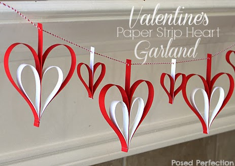Valentine's Day Paper Strip Heart Garland-Top 10 Crafts/DIY/Tips of 2014