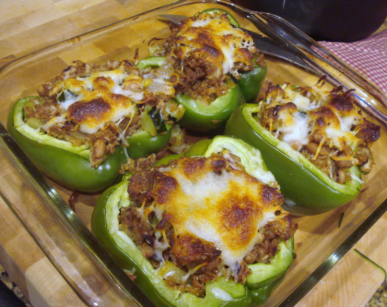 Easy stuffed green peppers made with whatever is in your pantry at the end of last week i realized that i had 2 beautiful green bell peppers left from my co op basket honestly when i saw the green peppers in the forumfinder Gallery