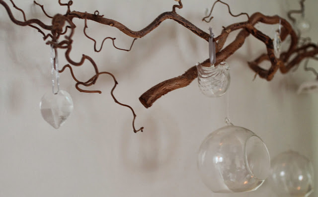 hanging birds and balls, christmas decoration