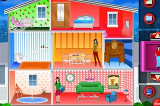 Juego de decorar la casa de muñecas de 3 plantas