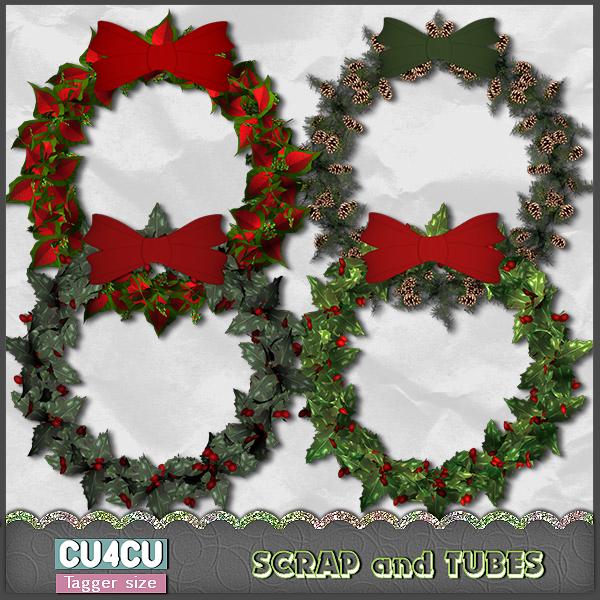 Set of Christmas Wreaths (CU4CU) .Set%2Bof%2BChristmas%2BWreaths_Preview_Scrap%2Band%2BTubes