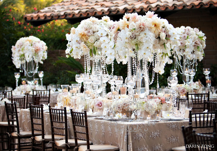 Lux wedding decor for Wedding table decoration ideas