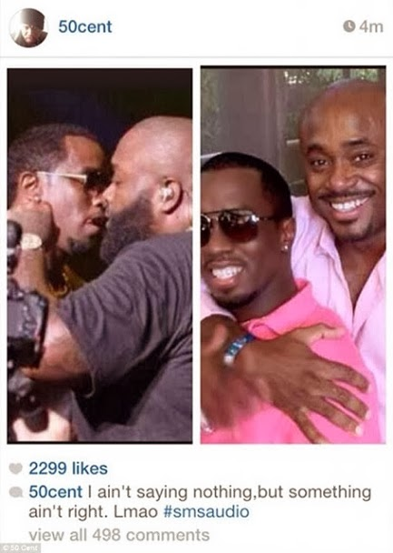 50cent suggests Diddy & Rick Ross are gay men