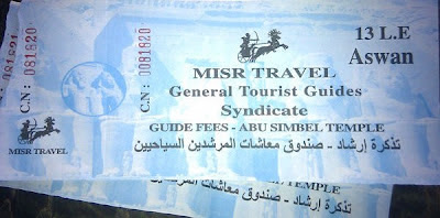 Timo de las entradas en Abu Simbel - Viaje a Egipto