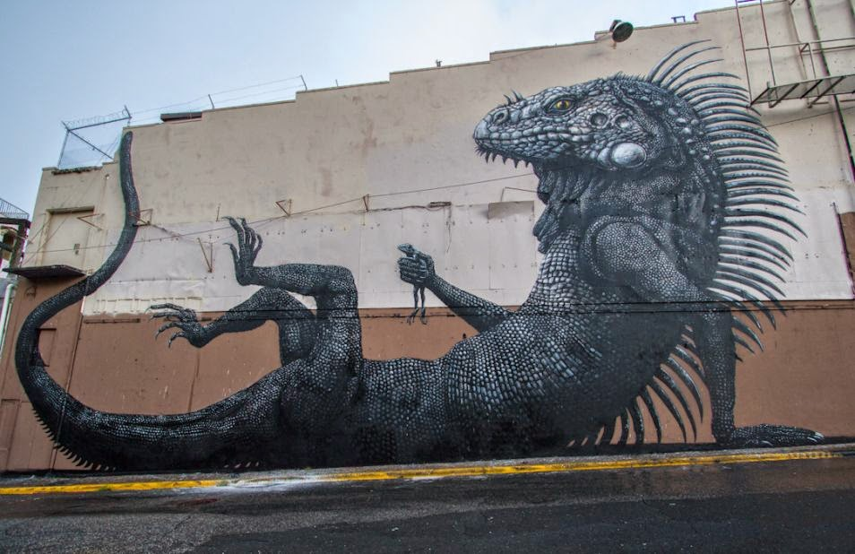 The Best Examples Of Street Art In 2012 And 2013 - By ROA, Los MurosHablan San Juan, PuertoRico