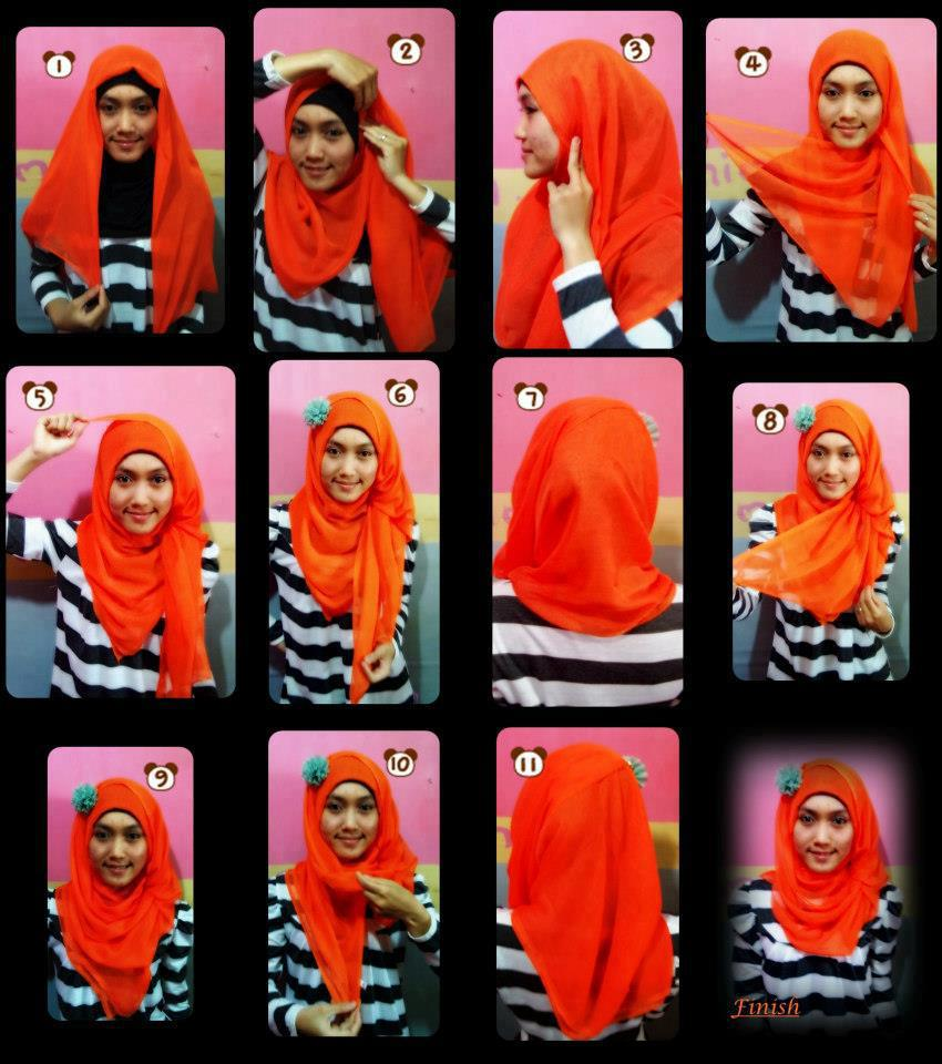 amiihong's blogs: Tutorial Hijab simple segi empat