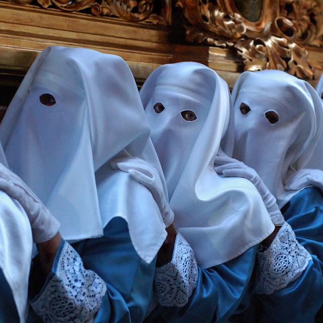 Semana Santa, Female Penitents, Spain - Photograph by Tim Irving