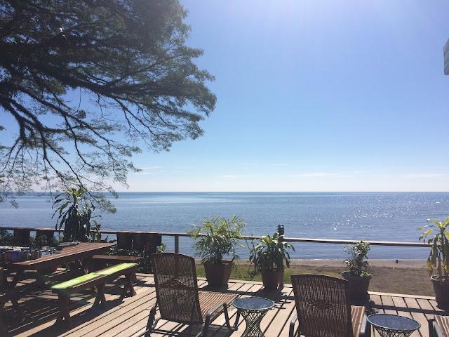 The view over Kimbe Bay from Walindi Plantation Resort