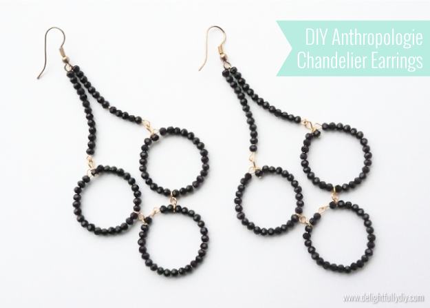 DIY Anthropologie Chandelier Earrings