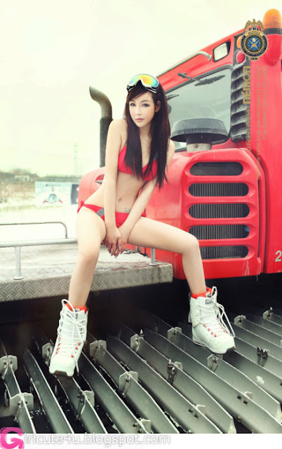 3 Shi Zi Jia - ski red chip-very cute asian girl-girlcute4u.blogspot.com