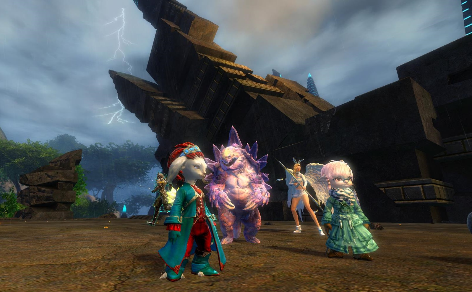 Guild wars 2 gw2 darkened desires gw2 fashion - The Pink Fluffy Thing Scurries About Like A Cross Between A Bunny Rabbit And A Hamster And Occasionally Rears Up On Its Hind Legs And Peers Goofily To The
