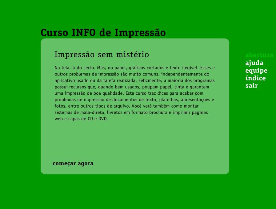 CURSO INFO DE IMPRESSÃO
